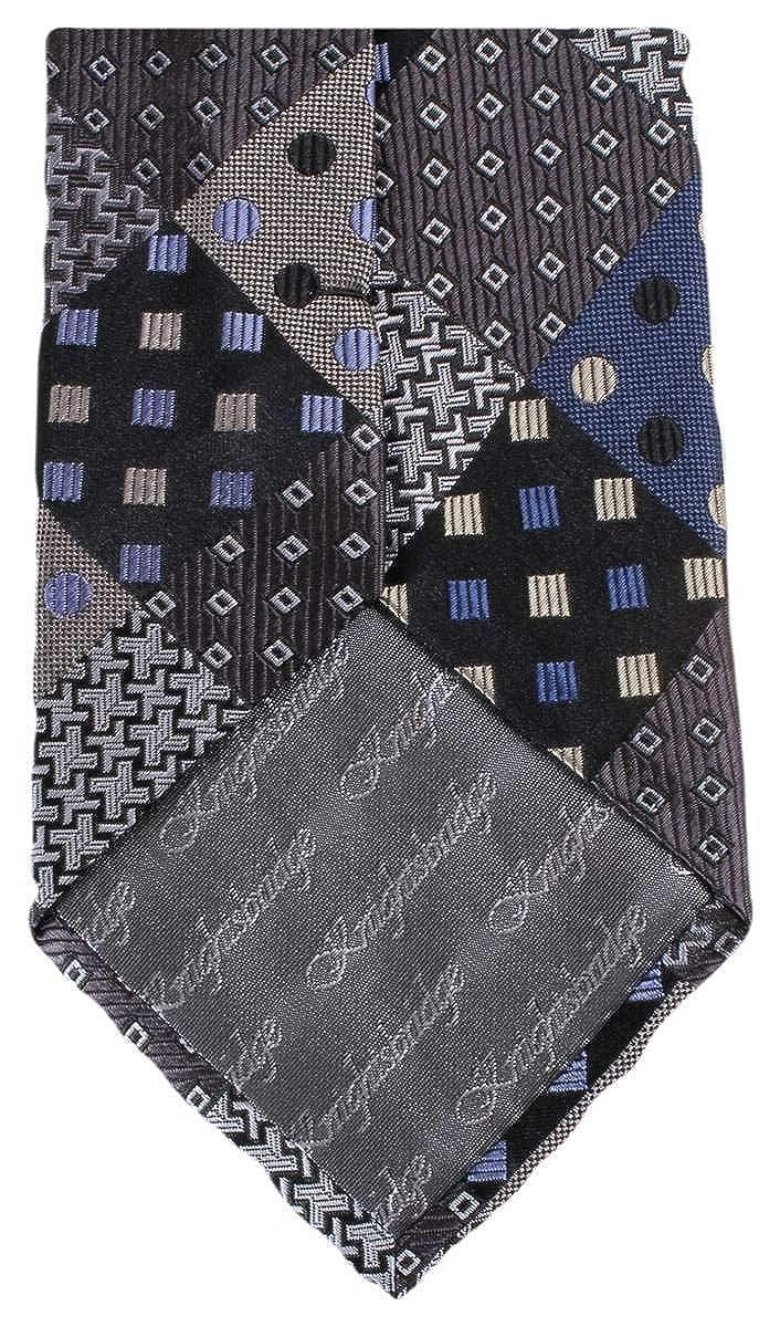 Knightsbridge Neckwear Mens Multi Pattern Tie Grey