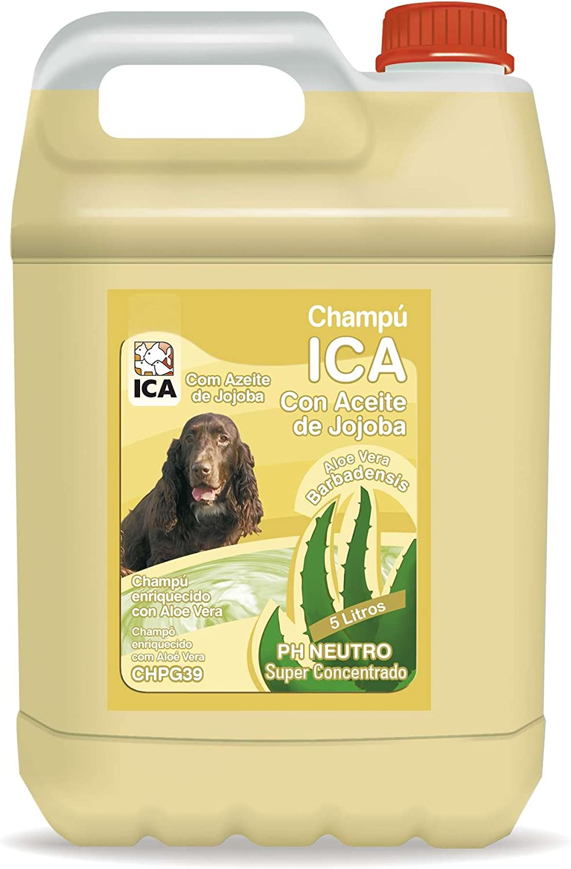 champú para perros de pelo largo o medio con aceite de jojoba, ICA