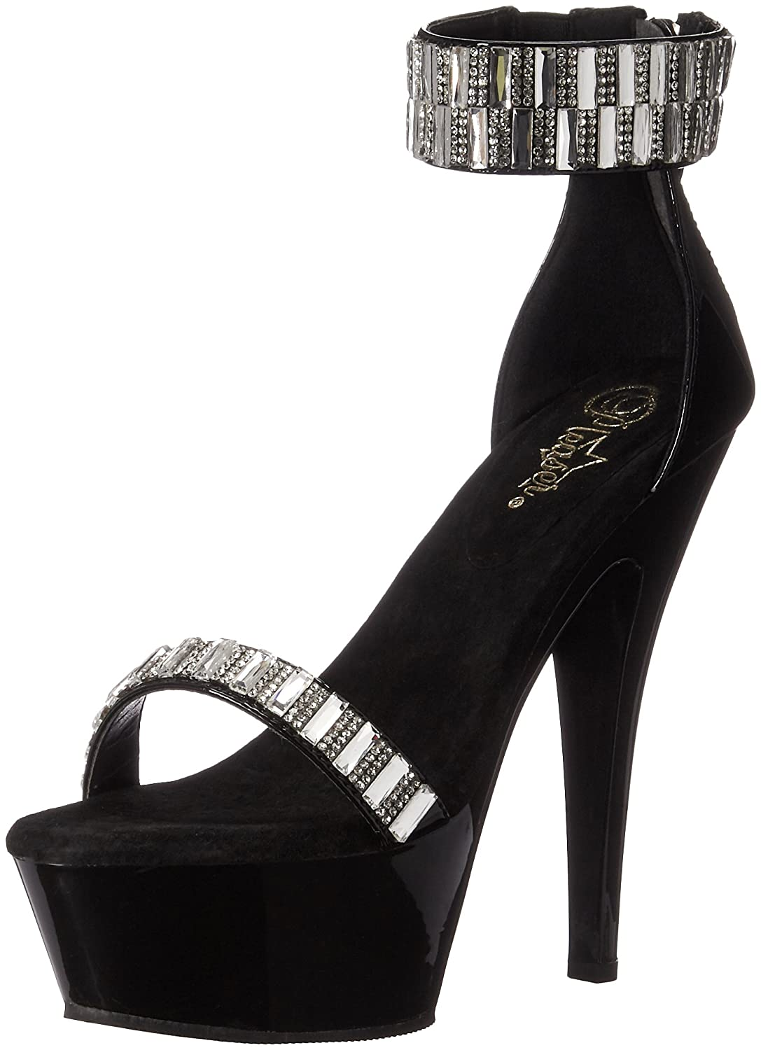Pleaser Women's Kiss269rs/b/m Platform Sandal B01ABTDK9W 7 B(M) US|Black/Black