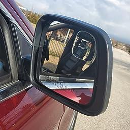 Sector HTOYES New Stick-on Blind Spot Mirror HD Frameless Glass 360/° Rotating Adjustable for All Universal Vehicles Car