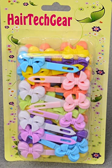 Amazon.com   Toddler Plastic Hair Barrettes Bow Tie (Pastel)   Beauty 33b3c134ea8