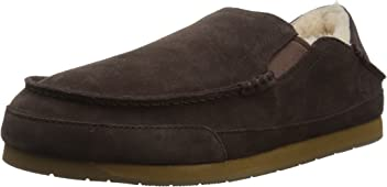 206 Collective Men's Bower Collapsible Back Shearling Moccasin Slipper