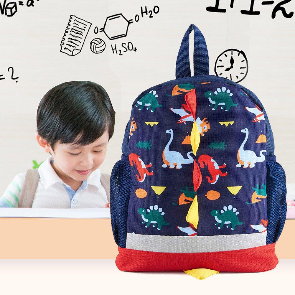 f317703650f9 SUNVP Cute School Backpack Cartoon Dinosaur Toddler Kids School Book Bags  Children Small Backpack Daysack for Girls Boys (Dark Blue Dinosaur)   Amazon.ca  ...