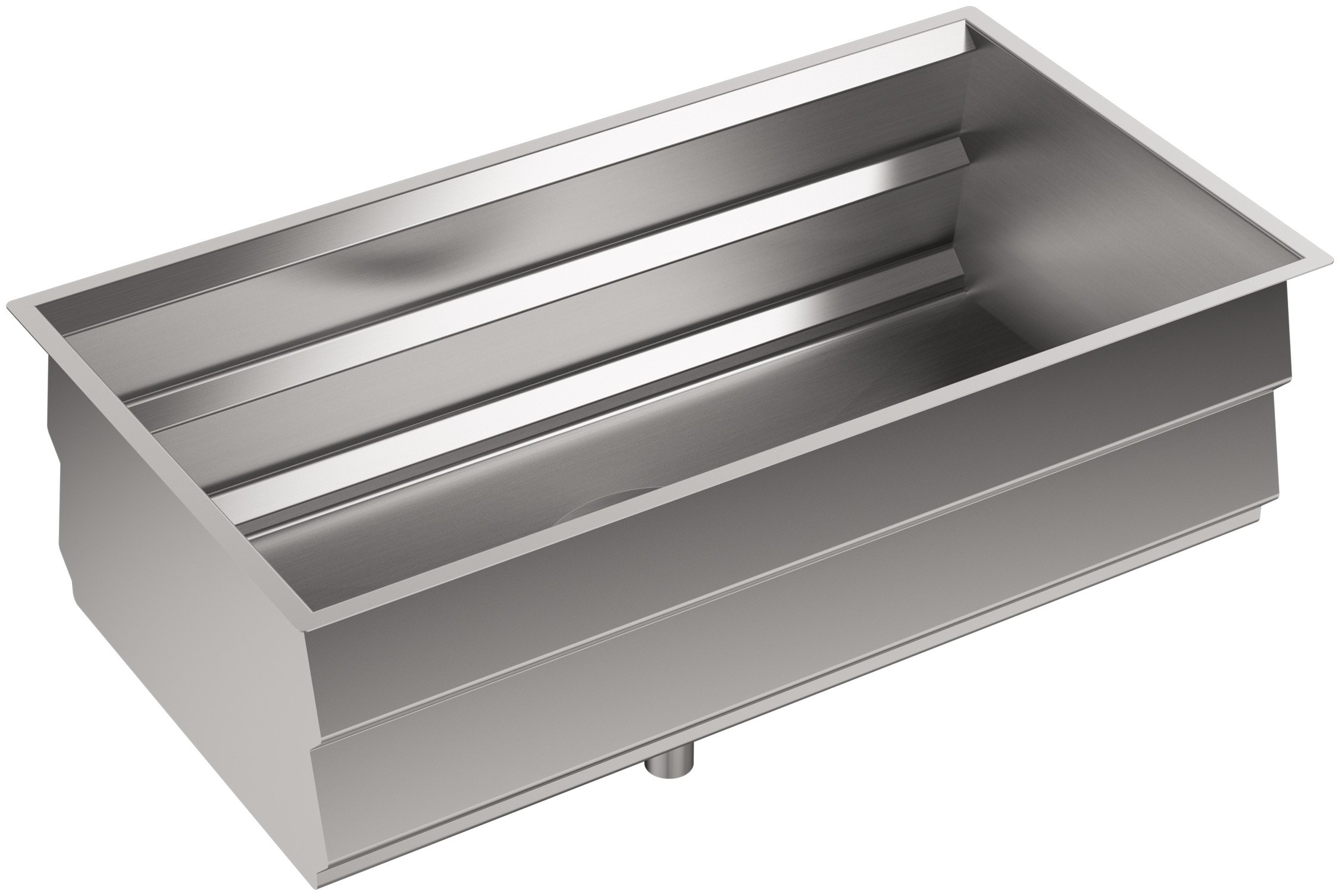 KOHLER Prolific 33 inch Workstation Stainless Steel Single Bowl Kitchen Sink with included Accessories, 11 inches deep, 18 gauge, Undermount installation K-5540-NA by Kohler (Image #3)