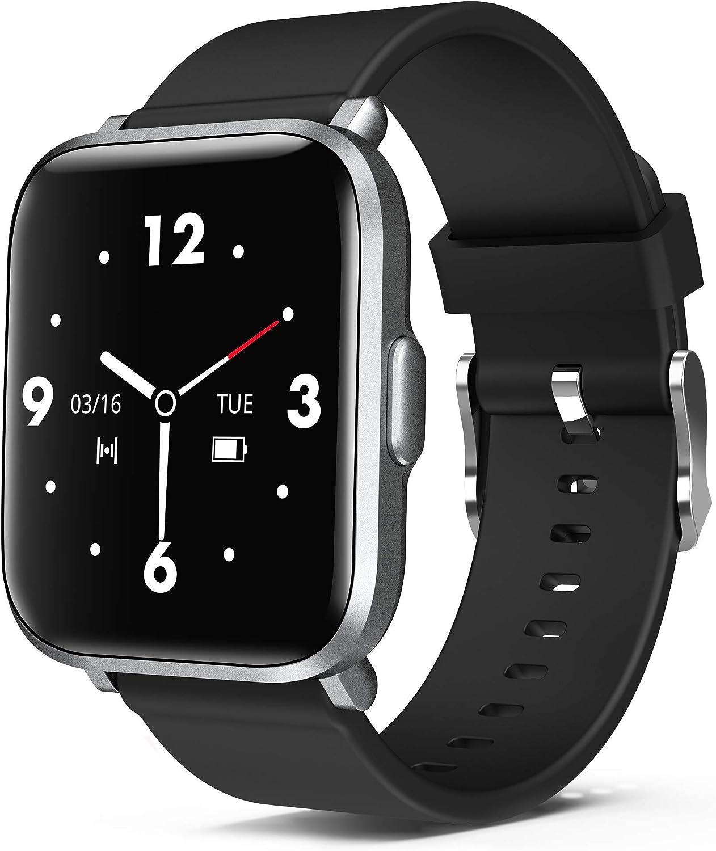 ORYTO Smartwatch, Reloje Inteligente Mujer Hombre, Soporte de Personalice la pantalla, Impermeable IP68 Pulsera de Actividad con Monitor Sueño Pulsómetros Caloría Podómetro para Android iOS