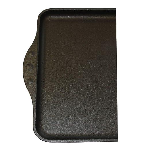 Euro Lux Grandes Plancha Antiadherente Lisa 43 cm Aluminio Fundido no Inducción: Amazon.es: Hogar