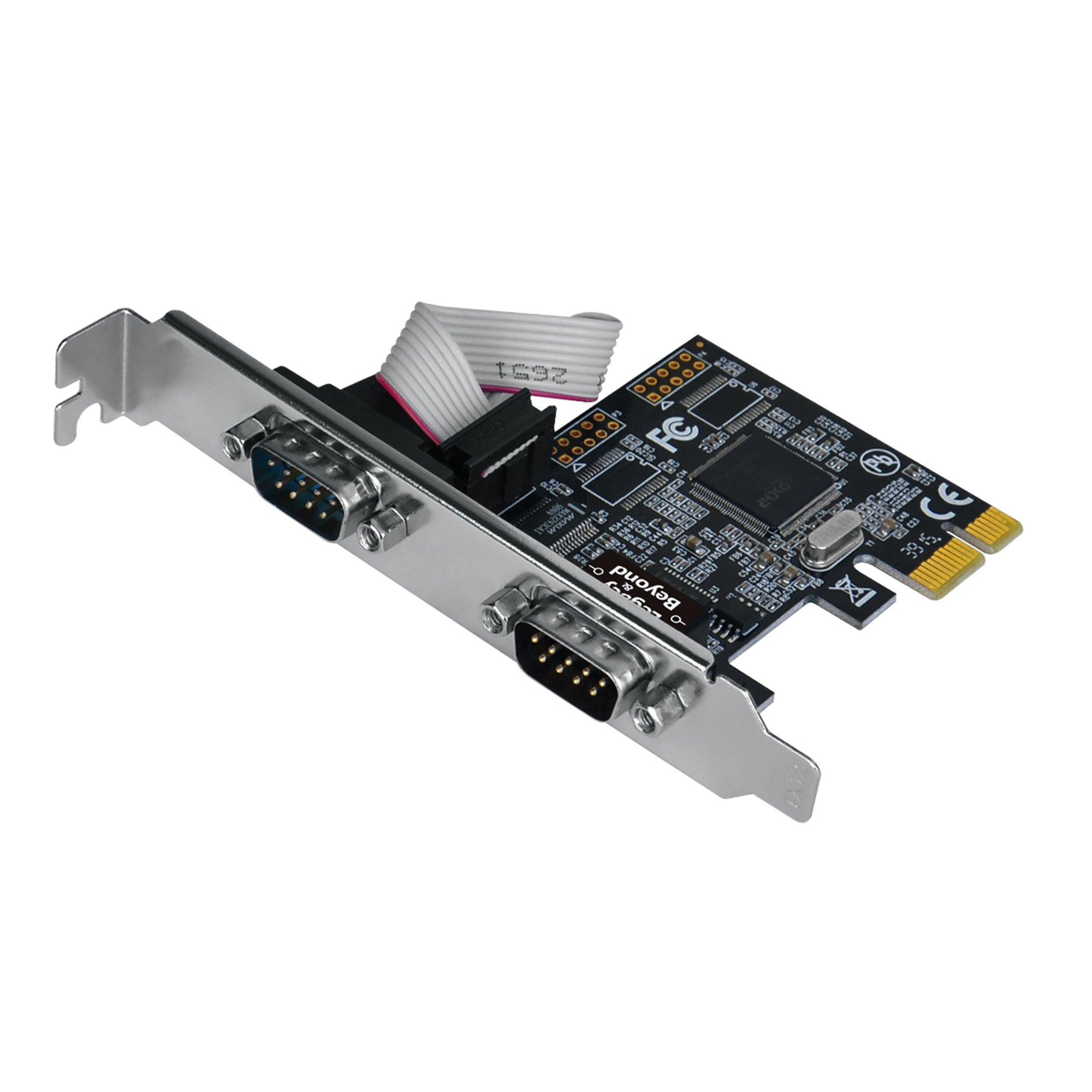 SIIG Legacy and Beyond Series 2 Port (Dual) Serial / RS-232 PCIe Card with 16C550 UART