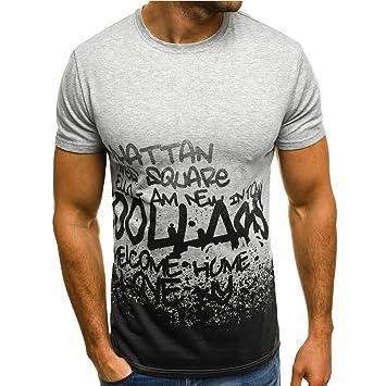 WWricotta Camisetas Hombre Originals Manga Corta Estampado Polos Gimnasio Deporte Slim Fit Streetwear Camisas Casual Sudaderas: Amazon.es: Deportes y aire ...