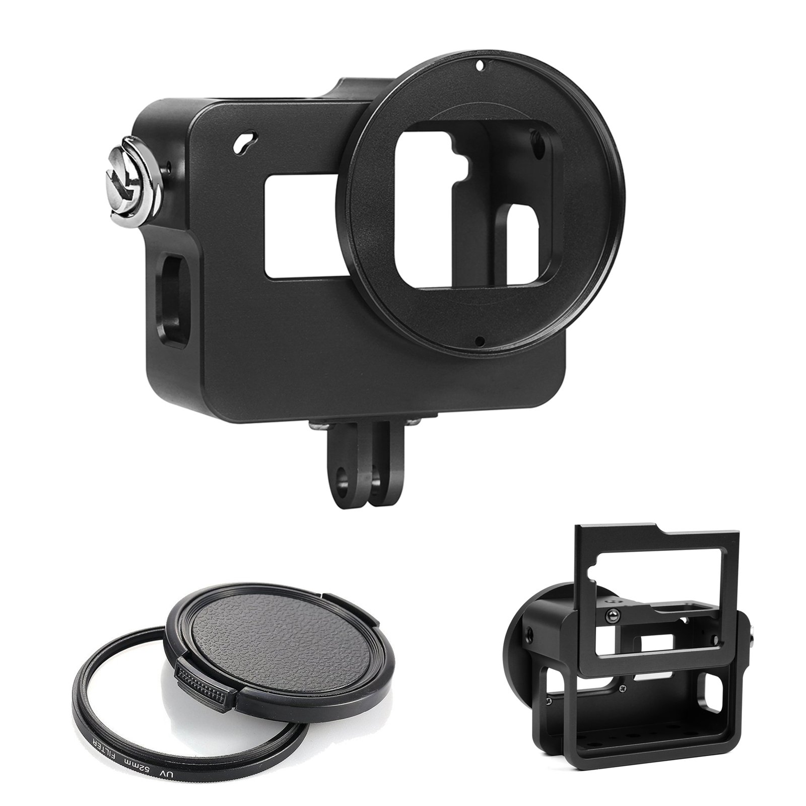 D&F Upgrade Aluminium Alloy Protective Housing Case Skeleton Border Frame with Backdoor for GoPro Hero 5 by D&F