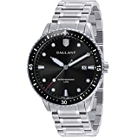 Mens Watch, Quartz Analog Watches with Stainless Steel Band, Metal Wrist Watch for Men Calendar Date Luminous 5ATM Waterproof Watches Business Casual Dress Gift, Sliver