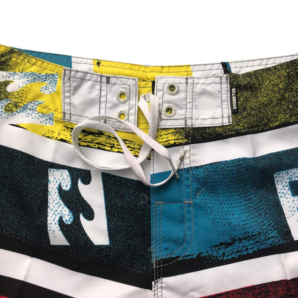 NUWFOR Men's Fashion Casual Patchwork Beach Surfing Swimming Loose Short Pants(Multicolor,US M Waist:32.3'') by NUWFOR (Image #2)