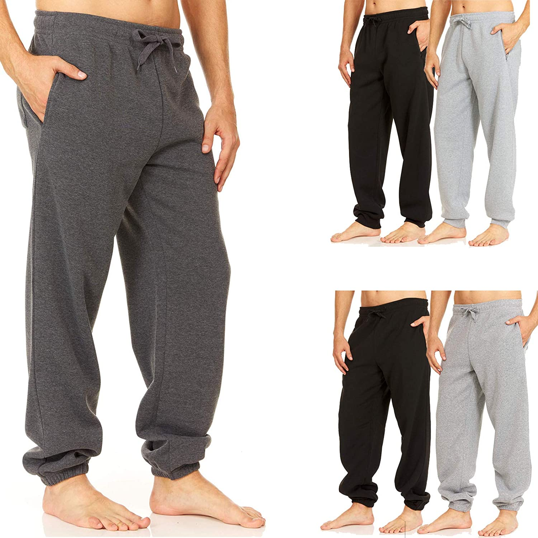 UNIQUE STYLES ASFOOR Mens Sweatpants with Pockets Fleeced Lined Mens Jogger Pants Sweats for Men