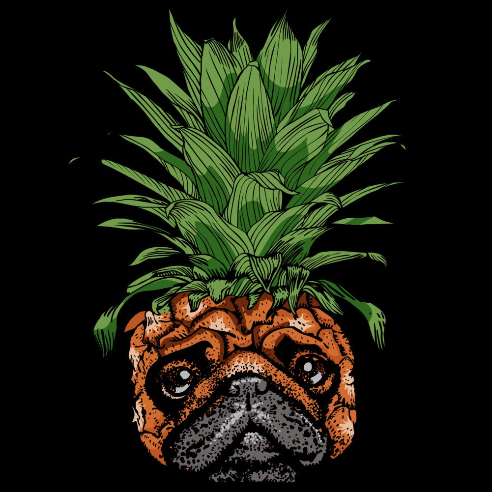 b060043c Amazon.com: Design By Humans Pineapple Pug Men's Graphic T Shirt: Clothing