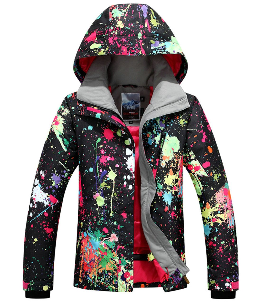 APTRO Women's High Windproof Technology Colorfull Printed Ski Jacket Style #897 Size M by APTRO