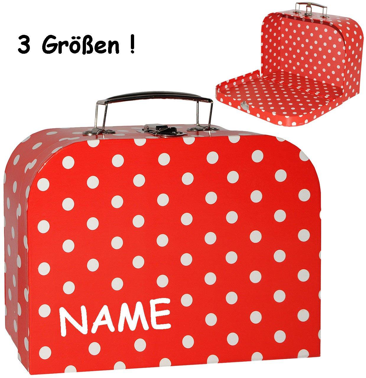 incl ideal für Spielzeug und als Geldgeschenk Name in 3 Verschiedenen Größen rot /& weiß alles-meine.de GmbH 3 Stück /_ Koffer // Kinderkoffer Punkte Mä.. Kofferset