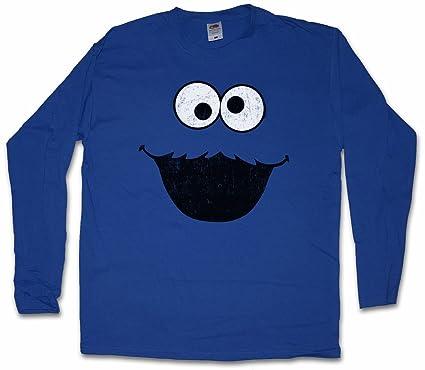 c9b2c81e02 Image Unavailable. Image not available for. Colour: Urban Backwoods Cookie  Monster Long Sleeve T-Shirt – Kekse Bert Krümel Puppet Sesame Monster