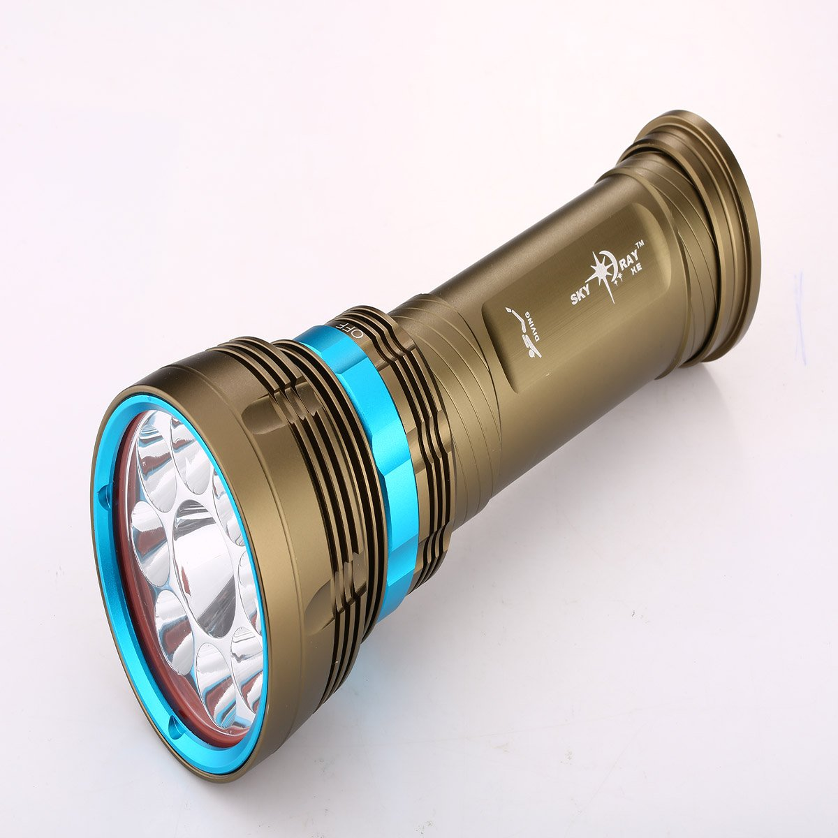 SKYRAY 1626 9 x Cree XM-L2 LED Taschenlampe Taschenlampe Wasserdicht Spotlight fü r Outdoor oder Zuhause Jiayitong