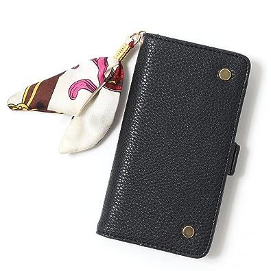 cf2f807141 Amazon.co.jp: JOKnet ペイズリースカーフ付iPhoneケース ブラック 手帳型 アイフォンケース スマホケース スマートフォン  iPhone8ケース iPhone7ケース iPhone6/6s ...