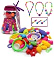 Pop Snap Beads Girl Toys - Wishtime Fashion DIY Jewelry Making Kit for Necklace and Bracelet for Girls Art Crafts Gift Toy Christmas Gift-85 Pieces Set