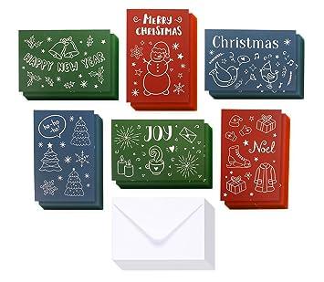 Amazon 36 pack christmas greeting cards bulk box set 36 pack christmas greeting cards bulk box set assorted winter holiday xmas greeting cards m4hsunfo