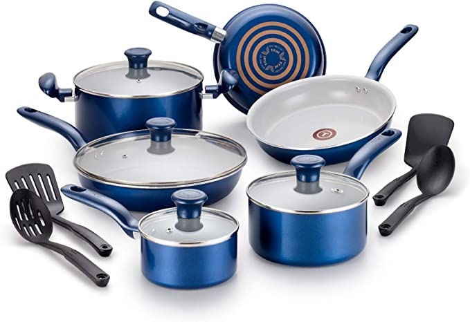 T-fal Ceramic Thermo-Spot Heat Indicator Cookware Set