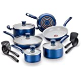 T-fal Inititives Initiatives Ceramic Thermo-Spot Heat Indicator Dishwasher Oven Safe Toxic Free Cookware Set, 14-Piece…