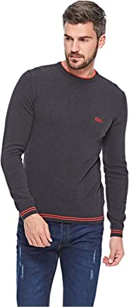 Hugo Boss Sweatshirts For Men, Charcoal S (S -742228811661)