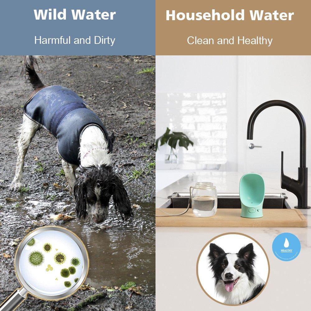 Belking Botella de Agua para Mascotas, 350ml Botella de Agua Portátil, Prevención de Fugas de Agua Dispensador de Agua de Viaje, Botella de Agua para ...