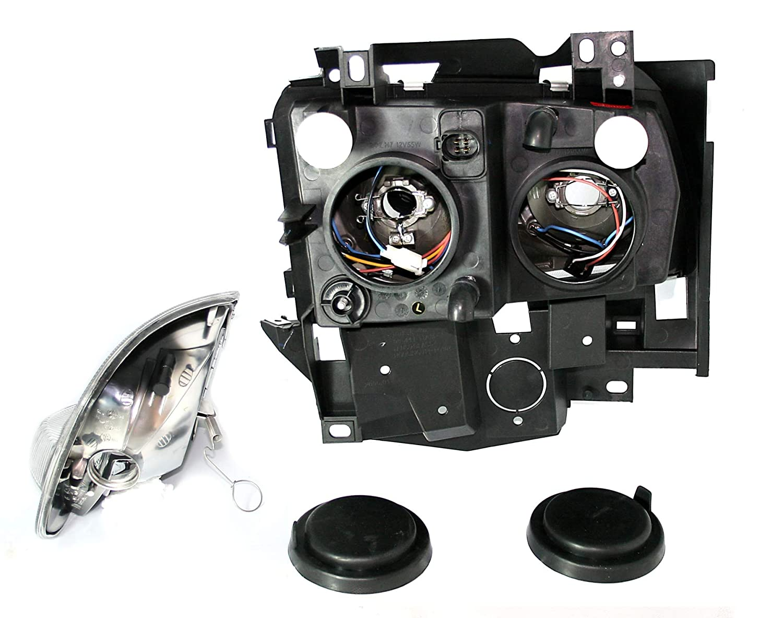 AD Tuning GmbH /& Co KG 960418/Angel Eyes Faro Set Vetro Trasparente Nero