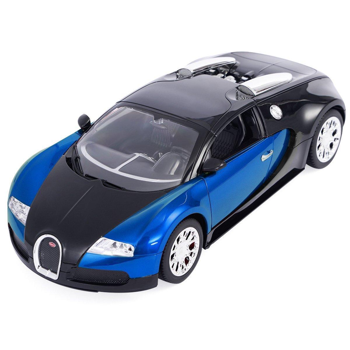 Amazon.com: Goplus New 1/14 Radio Remote Control RC Car Bugatti Veyron 16.4  Grand Sport Car Blue New: Toys U0026 Games
