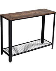 VASAGLE Console Table, Sofa Table, Metal Frame, Easy Assembly, for Entryway, Rustic Brown ULNT80X