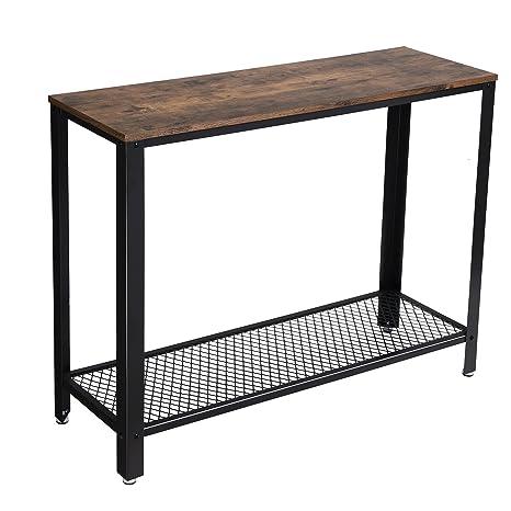 Amazon.com: VASAGLE Mesa auxiliar de consola vintage, sofá ...