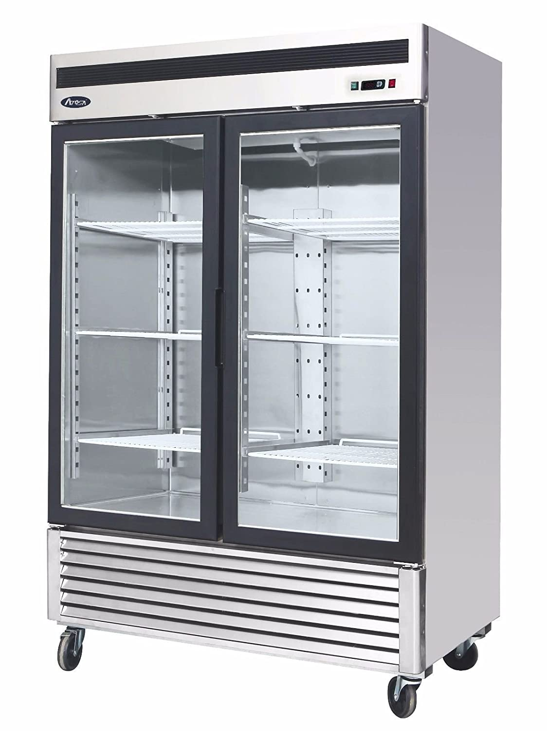 Amazon.com: BRAND NEW COMMERCIAL 2 GLASS DOOR REFRIGERATOR ...