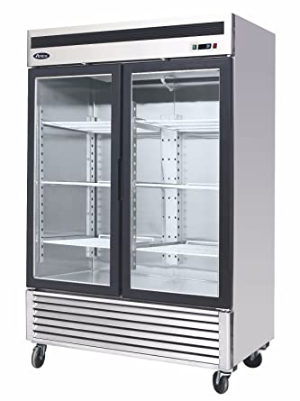 Amazoncom Brand New Commercial 2 Glass Door Refrigerator Appliances
