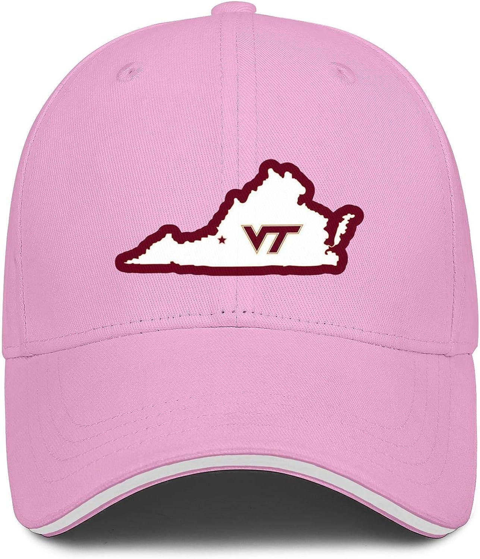 TylerLiu Baseball Cap Virginia Tech Hokies Snapbacks Truker Hats Unisex Adjustable Fashion Cap