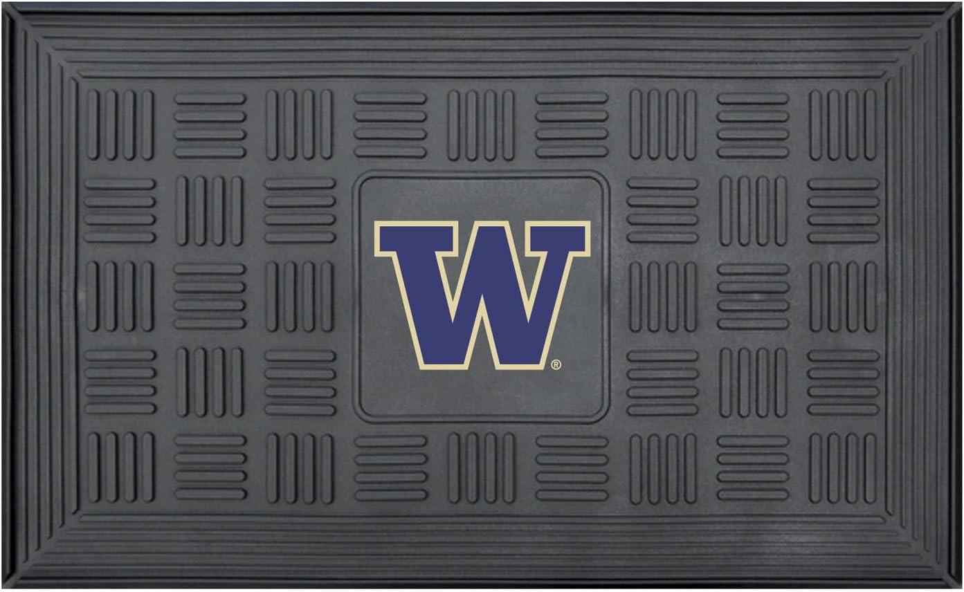 FANMATS 22524 Team Color 18 x 30 Crumb Rubber University of Washington Door Mat