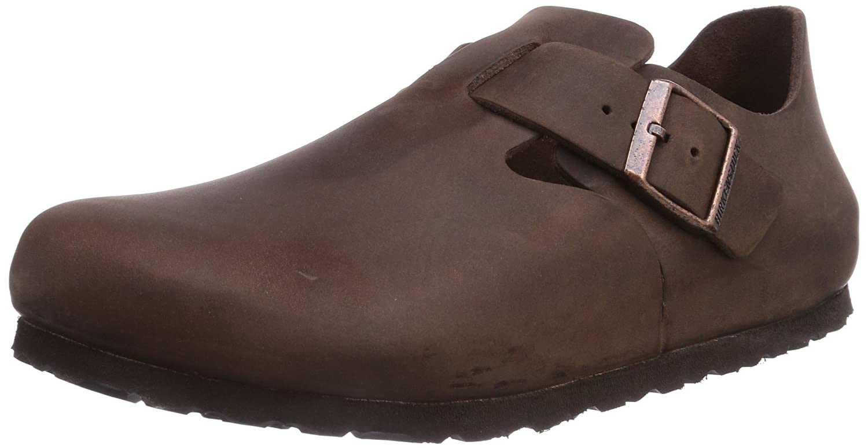 Birkenstock 166531 - Zapatos Oxford de Piel Lisa Unisex Adulto 46 EU|Habana