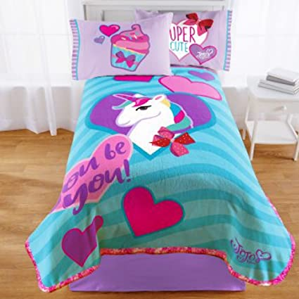 Amazoncom Jojo Siwa Nickelodeon Girls Twin Bedding Plush Blanket