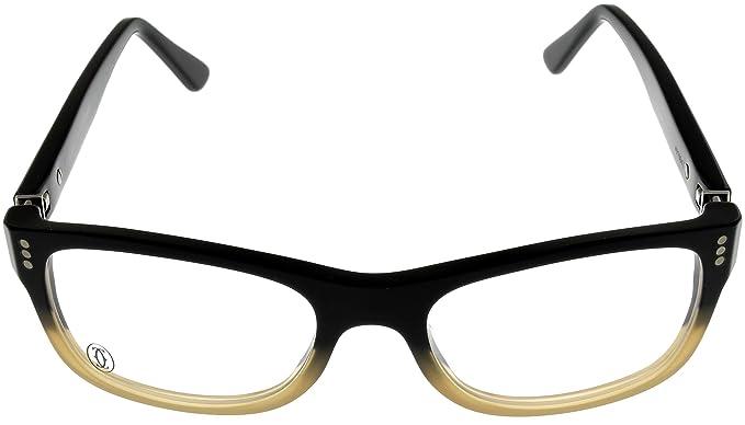 06145be4957 Amazon.com  Cartier Premiere Pantos Prescription Eyeglasses Frame T8100902  Black Rectangular  Clothing