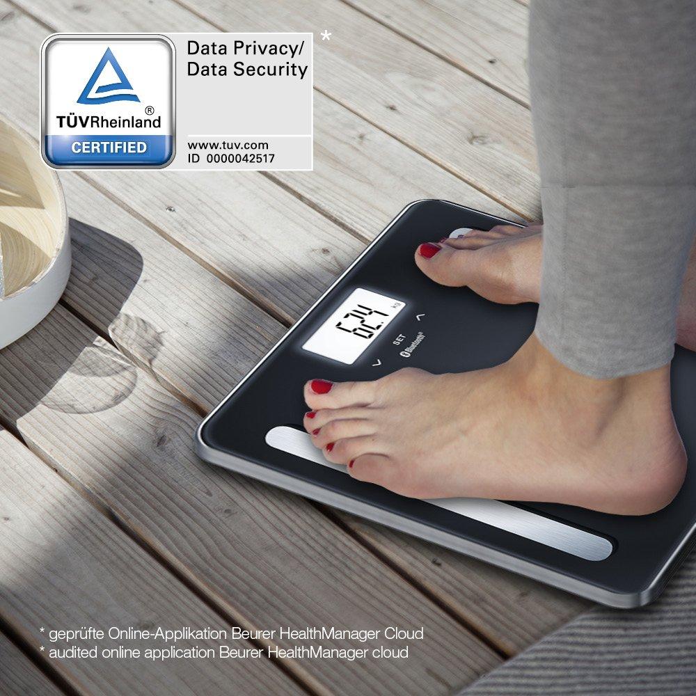 Beurer BF 600 - Báscula digital de diagnóstica con IMC y función Bluetooth de vidrio, con App en español, color negro: Amazon.es: Salud y cuidado personal
