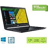 Notebook Acer A515-51-55QD Intel Core i5 4GB RAM 1TB HD 15.6 HD Windows 10
