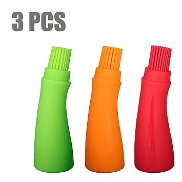 newvan Tech 3 Pcs Dispensador de aceite de silicona cepillo de aceite de silicona Pincel Set