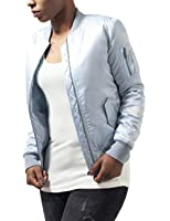 Urban Classics Damen Jacke Ladies Satin Bomber Jacket