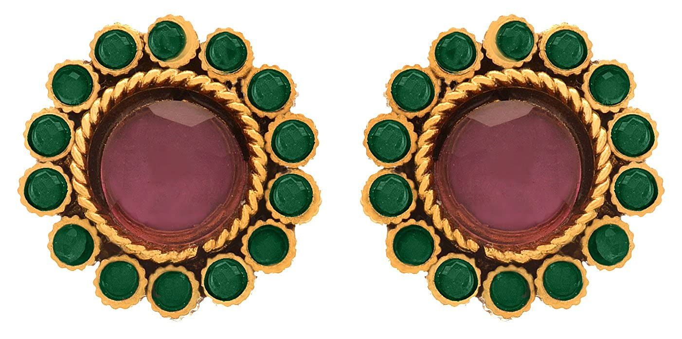 3fddd8b15 Buy JFL - Traditional Ethnic One Gram Gold Plated Diamond & Stone Designer  Stud Earring for Women & Girls. Online at Low Prices in India | Amazon  Jewellery ...