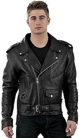 Young Men Basic Premium Leather Motorcycle Biker Jacket At Amazon
