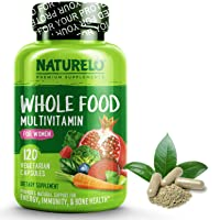 NATURELO Whole Food Multivitamin for Women - Natural Vitamins, Minerals, Raw Organic...