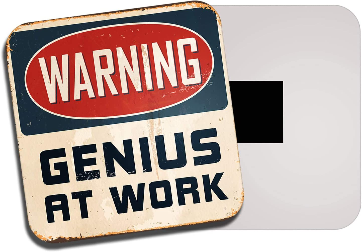 DestinationVinyl Genius at Work Fridge Magnet Grunge Office Secret Santa Student Fun Gift #0116
