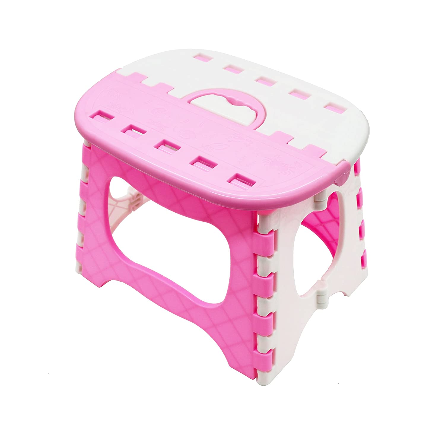 APIKA Foldable Step Stool For Kids Plastic Portable Easy Carrying Suitable For Travel Camping Fishing Outdoor Use(blue)
