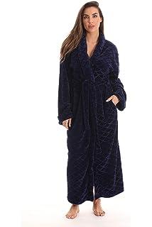 Just Love Velour Kimono Robe Hooded Bath Robes for Women Maxi Length