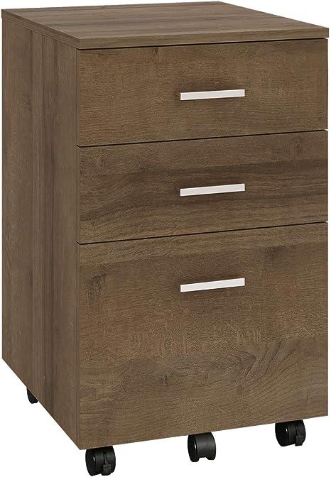 Amazon.com: Armario archivador de madera de 3 cajones, se ...